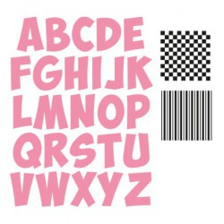 61.9050 / Alfabet stickers, mirror silver